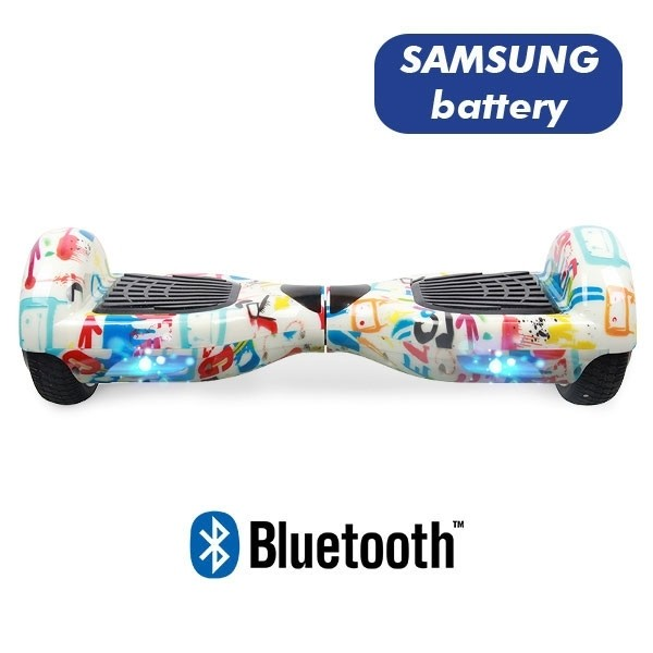 Hoverboard Koowheel Hoverboard S36 BlueTooth URBAN WHITE GRAFFITI