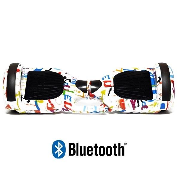 Hoverboard Koowheel Hoverboard S36 BlueTooth URBAN GRAFFITI WHITE