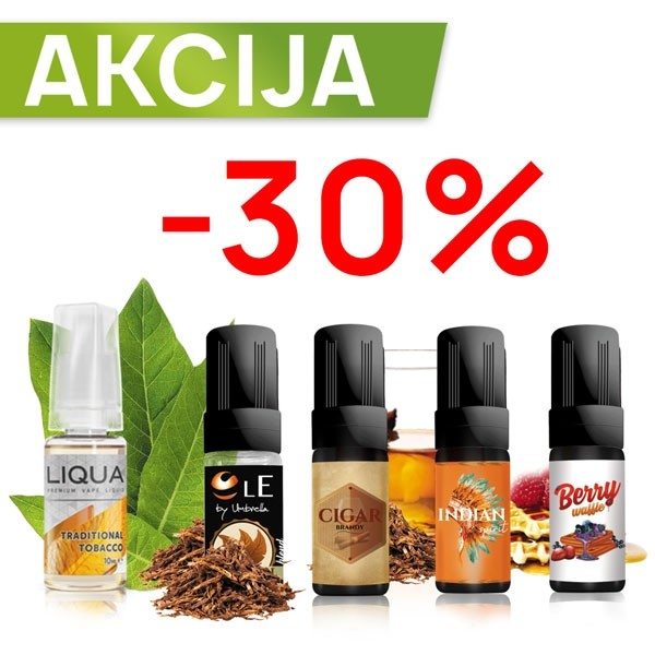 Elektronske cigarete Tečnosti Umbrella Premium AKCIJA 10ML -30%