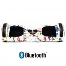Hoverboard S36 BlueTooth URBAN GRAFFITI WHITE
